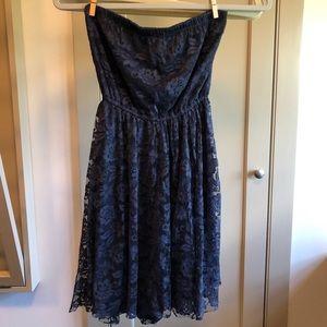 Strapless Navy Blue Hollister Dress